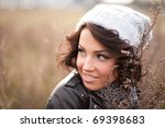 Portrait Of A Curly Brunette I...