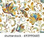 grunge seamless hand painted... | Shutterstock . vector #693990685