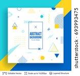 abstract avantgarde retro... | Shutterstock .eps vector #693993475