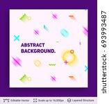 abstract avantgarde retro... | Shutterstock .eps vector #693993487