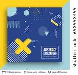 abstract avantgarde retro... | Shutterstock .eps vector #693993499