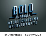 vector of bold emboss font and... | Shutterstock .eps vector #693994225