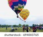 putrajaya  malaysia   august 11 ... | Shutterstock . vector #694003765