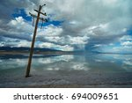 the mirror of the sky | Shutterstock . vector #694009651