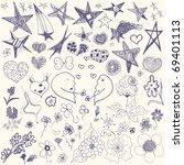 doodle set | Shutterstock .eps vector #69401113