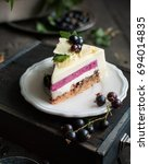 a modern mousse cake with a... | Shutterstock . vector #694014835