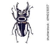 color insects beetle bug....   Shutterstock .eps vector #694015057