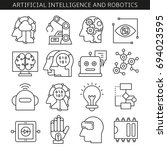 artificial intelligence and... | Shutterstock .eps vector #694023595