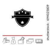 shield protection icon. vector... | Shutterstock .eps vector #694025809