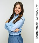 successful business woman... | Shutterstock . vector #694029679