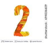 autumn fall bright orange... | Shutterstock .eps vector #694036609