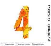 autumn fall bright orange... | Shutterstock .eps vector #694036621