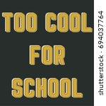 school style vector design for... | Shutterstock .eps vector #694037764