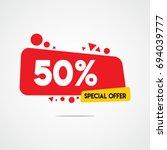 50  special offer discount... | Shutterstock .eps vector #694039777