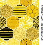 seamless geometric pattern with ... | Shutterstock .eps vector #694050031