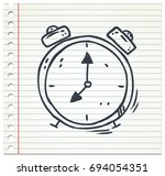 waker or clock | Shutterstock .eps vector #694054351
