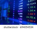 stock market graph and ticker... | Shutterstock . vector #694054534