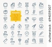 measuring related web icon set  ... | Shutterstock .eps vector #694059307