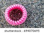 pink shockproof foam on the... | Shutterstock . vector #694070695