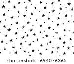 hand drawn seamless pattern | Shutterstock .eps vector #694076365