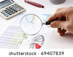 magnifying glass in hand and... | Shutterstock . vector #69407839