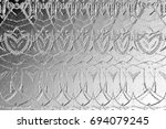 black and white relief convex... | Shutterstock . vector #694079245