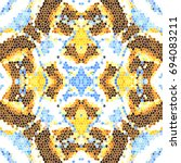 mosaic colorful pattern for... | Shutterstock . vector #694083211