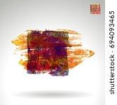 brush stroke and texture.... | Shutterstock .eps vector #694093465