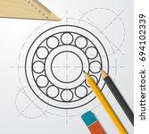 vector simple hand spinner icon....   Shutterstock .eps vector #694102339