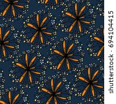 seamless pattern with cute... | Shutterstock .eps vector #694104415