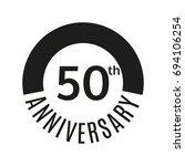 50th anniversary icon. 50 years ... | Shutterstock . vector #694106254