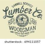 sawmill service lumber company  ... | Shutterstock .eps vector #694111057