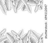 seamless tropical horizontal... | Shutterstock .eps vector #694112047