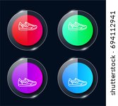 sneaker four color glass button ...