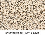 Pile of black eyed beans, suitable for use as a background. - stock photo