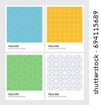 seamless vector pattern... | Shutterstock .eps vector #694115689