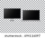 set of realistic modern blank... | Shutterstock .eps vector #694116097