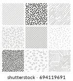 set of nine seamless patterns... | Shutterstock .eps vector #694119691