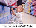 cute little asian 18 months   1 ... | Shutterstock . vector #694120144