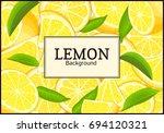 rectangular label on citrus... | Shutterstock . vector #694120321