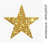 gold glitter star. golden... | Shutterstock . vector #694120537