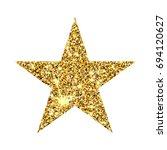 gold glitter star. golden... | Shutterstock . vector #694120627