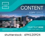 presentation layout design... | Shutterstock .eps vector #694120924