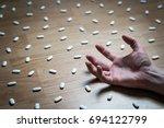 drug addiction  medical abuse... | Shutterstock . vector #694122799