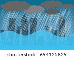 the weather is heavy with... | Shutterstock .eps vector #694125829