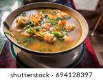traditional tibetan food is... | Shutterstock . vector #694128397