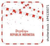 poster or banner indonesian... | Shutterstock .eps vector #694130071