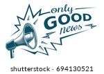 only good news sign with... | Shutterstock .eps vector #694130521