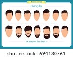 hair styling vector... | Shutterstock .eps vector #694130761