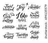 typography hand writing set.... | Shutterstock .eps vector #694135579